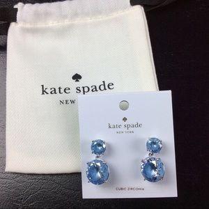NWT Kate Spade Blue Sapphire Earrings with Bag